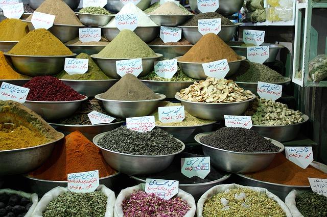 Iran : marché aux épices