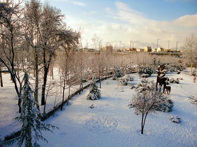 Iran paysage sous la neige